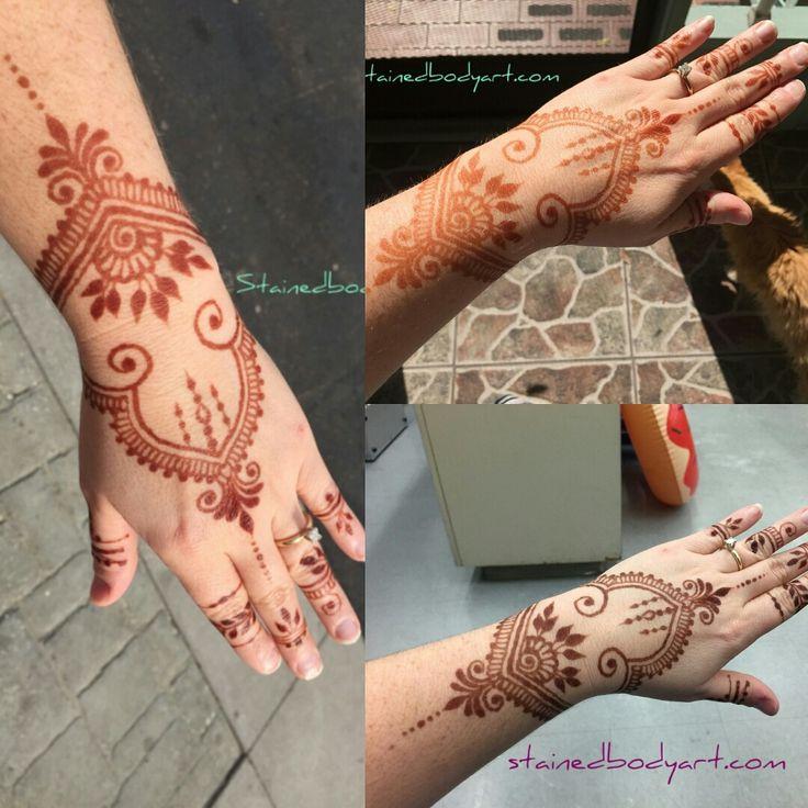 natural henna stain getting darker