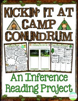 Inference Reading Project { Inferencing Activities }! Engage your students in learning about and reviewing the crucial reading skill of INFERENCE with this 11-page reading project.   Students will have a blast tagging along on a camping trip while practicing their inferencing skills along the way.  Each sheet reviews inferencing in a different way, allowing for easy differentiation! You can easily create different packets based on the ability of the different students in your class.$