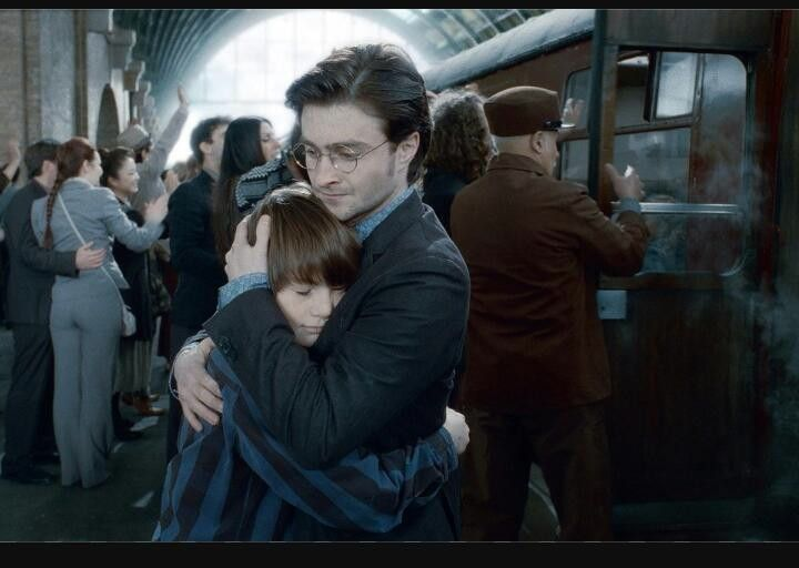 When harry again hae been to platform no. 9 3/4 to leave his son Albus Severus Potter to Hogwarts in the last movie.