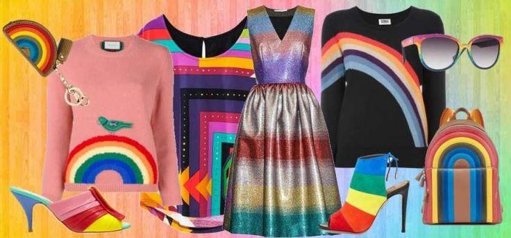 Abiti e accessori arcobaleno, tendenza Primavera-Estate 2016