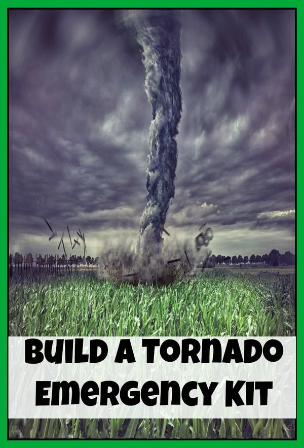 Tornado season is coming (and has started in some areas).  Do you have a tornado emergency kit?