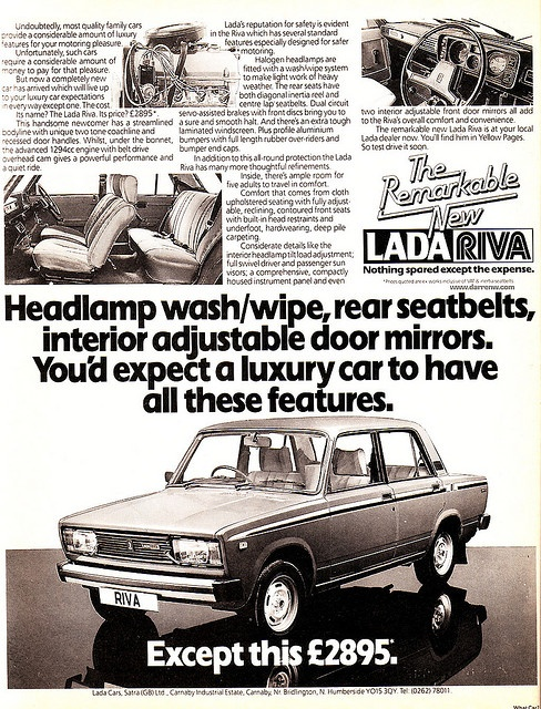 The VAZ-2105, VAZ-2104 and VAZ-2107 (collectively known as the Lada Riva in the United Kingdom and the Lada Nova in much of continental Europe) are a series of medium-sized family cars built by Russian car manufacturer AvtoVAZ, introduced in 1980 in the Soviet Union, and progressively in other European markets through the early 1980s and sold in both saloon and estate versions.