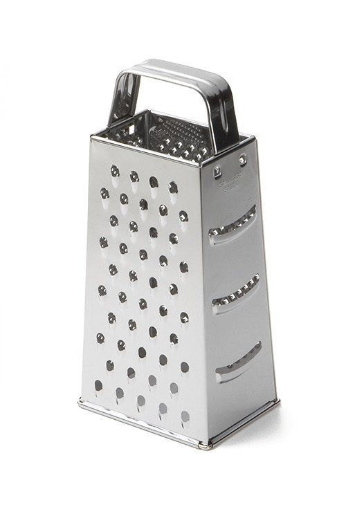 "Stainless Steel Box Grater (SG200) Dimensions: 3"" x 4"" x 9"" Tapered. Material Stainless Steel - Also called: Cheese grater Made of stainless steel, this box grater is built for durability. Whether you"