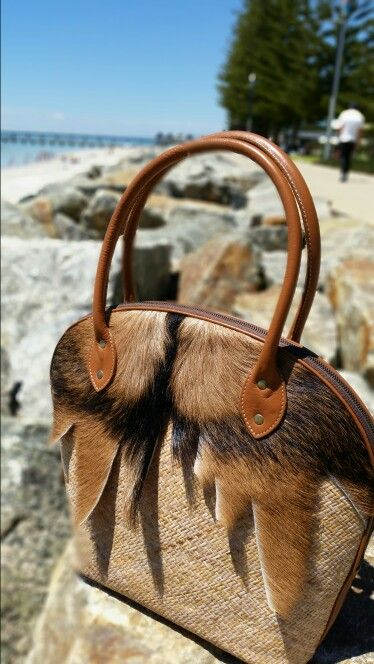 Libelle Natural Bags : Inspired by a friend who loves horse, this awesome Saddle Bag is made from strong rattan, cow hide and goat fur. Unique and functional in a bag!
