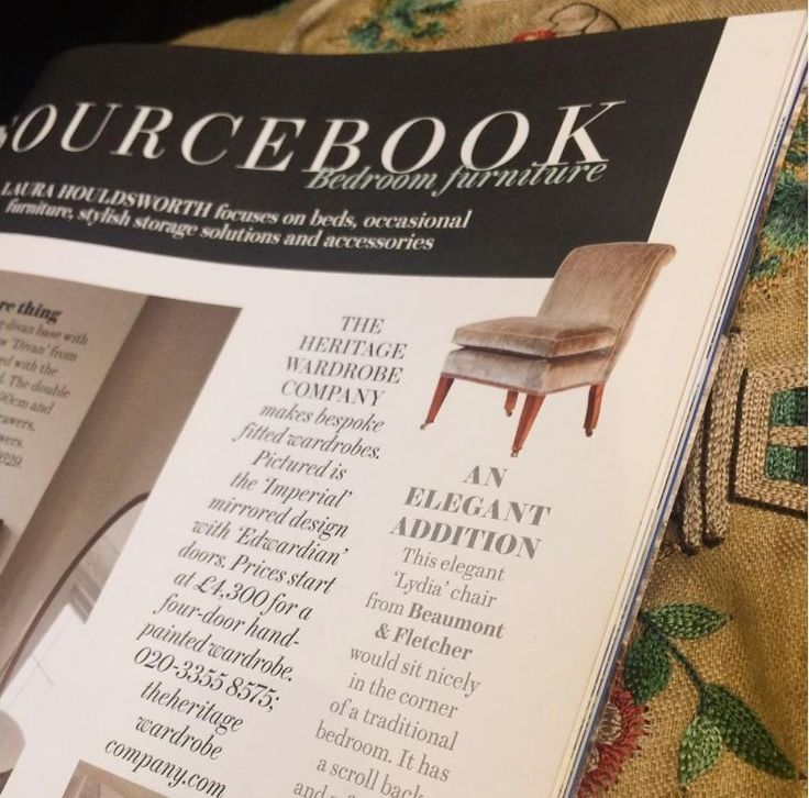 'An Elegant Addition'. Our Lydia chair featuring in this month's House and Garden UK magazine.