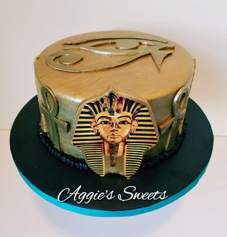 Egyptian themed birthday cake