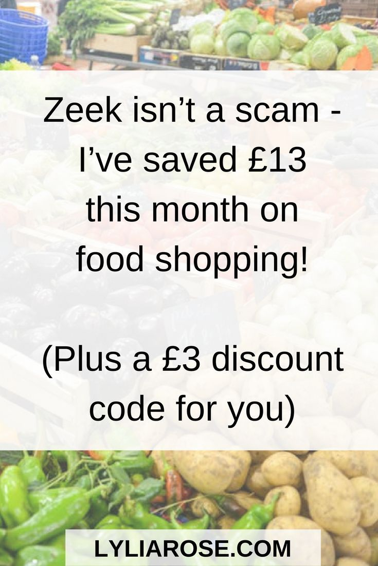 Zeek isn't a scam - I've saved £13 this month on food shopping! (Plus a £3 discount code for you)  I recently wrote about Zeek, a company I'd heard about but hadn't got round to trying myself.  It's a gift card company that sells discounted gift cards for hundreds of stores, including supermarkets.  When I told Ben I was going to start using it to buy our supermarket shops he looked at me strangely, as if it was a scam.  I, too, was a little concerned the vouchers may not work, but after…