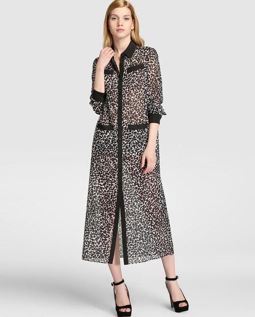 Vestido camisero de mujer Boutique Moschino con estampado animal