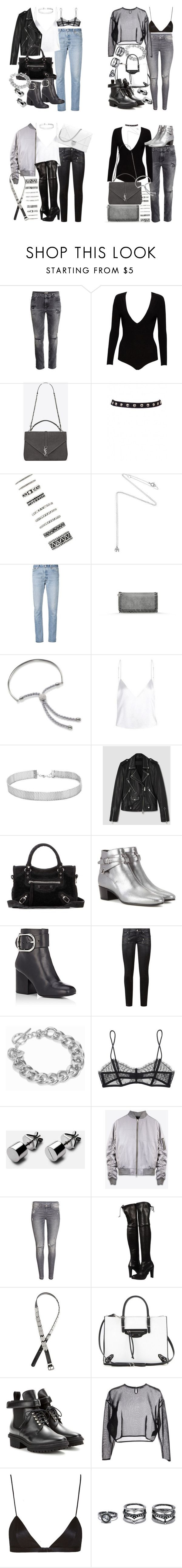 """""""concert looks"""" by florencia95 ❤ liked on Polyvore featuring Alice + Olivia, Yves Saint Laurent, Forever 21, Estella Bartlett, RE/DONE, STELLA McCARTNEY, Monica Vinader, AllSaints, Balenciaga and Alexander Wang"""