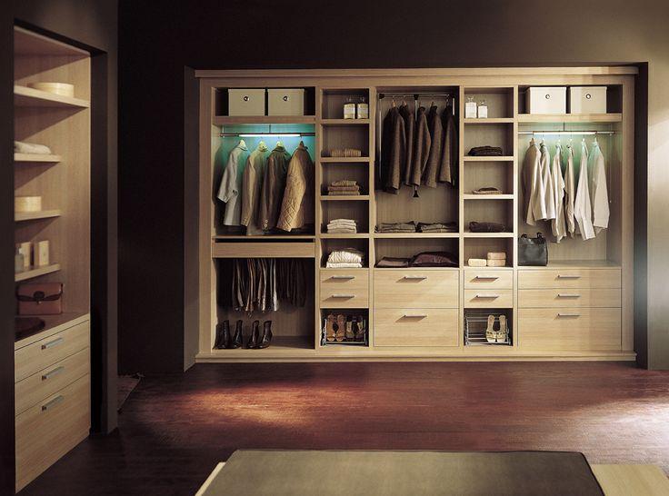 interiores y vestidores unidad de producto resuelto en melamina con herrajes de unin para