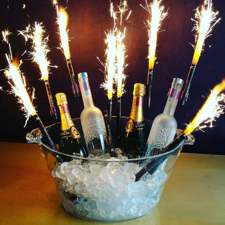Champagne Bottle Sparklers are Great for New Years Eve Celebrations, Events, Birthdays, Anniversaries, Weddings etc! These also come with a spike on the Bottom to use as Cake Sparklers Flames Candles! Order yours today at www.NightclubShop.com