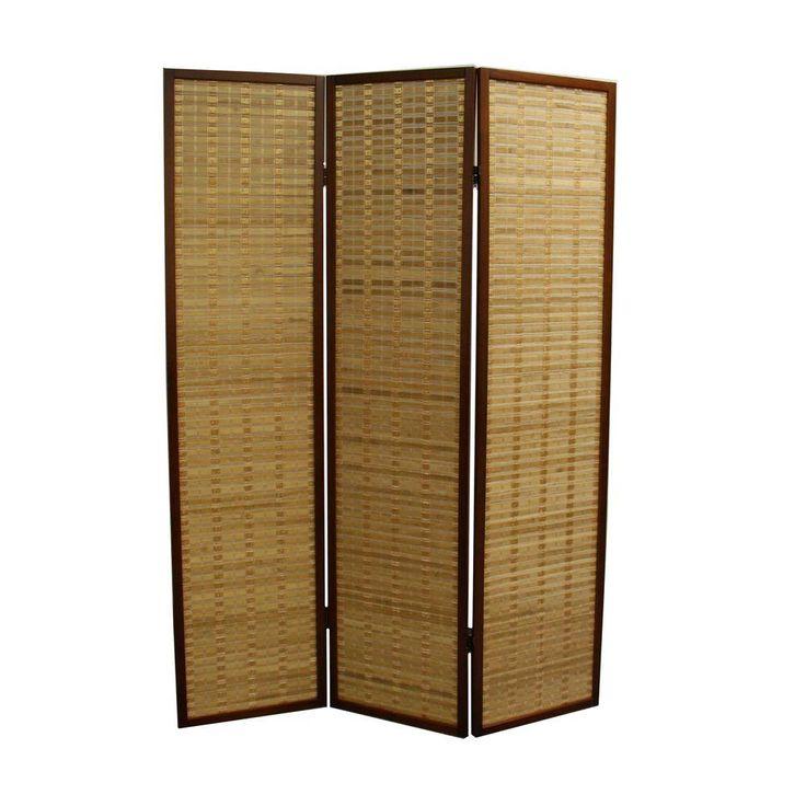 585 ft honey brown 3panel room divider