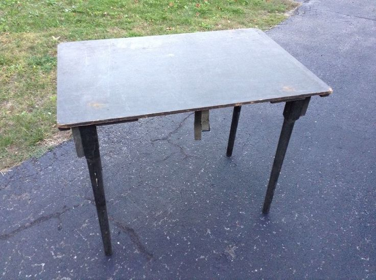 Military Surplus Wood Table Folding Army Officers Field