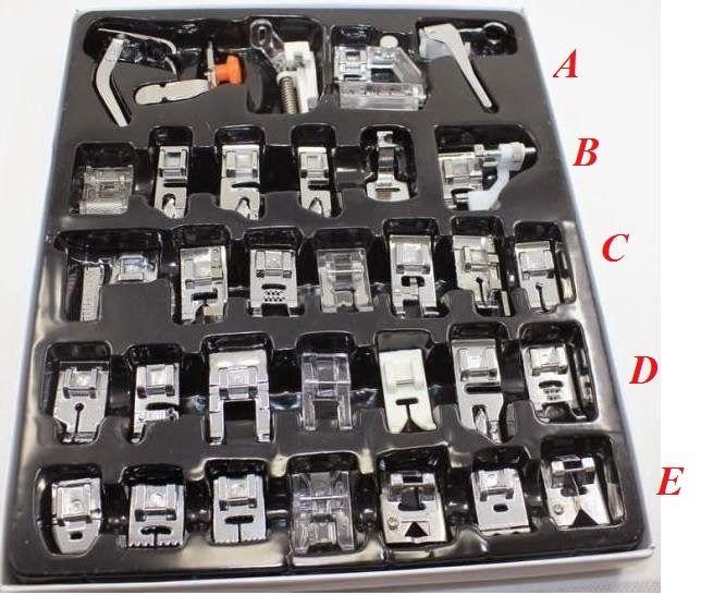 Las cosillas de Dito´s: Kit de 32 Prensatelas con explicación de cada uno.