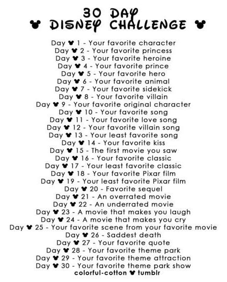 Disney 30 Day challenge:] #Disney #Challenge #DisneyNerd
