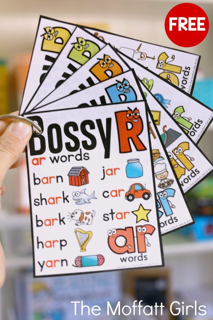 Free Bossy R full-sized posters! Plus, find out how to make these posters (and any posters) into these mini-booklets for individual use!