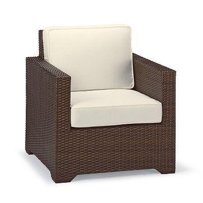 Palermo Balcony Lounge Chair Cushions - Resort Stripe Air Blue Rain, Custom Sunbrella Rain - Frontgate