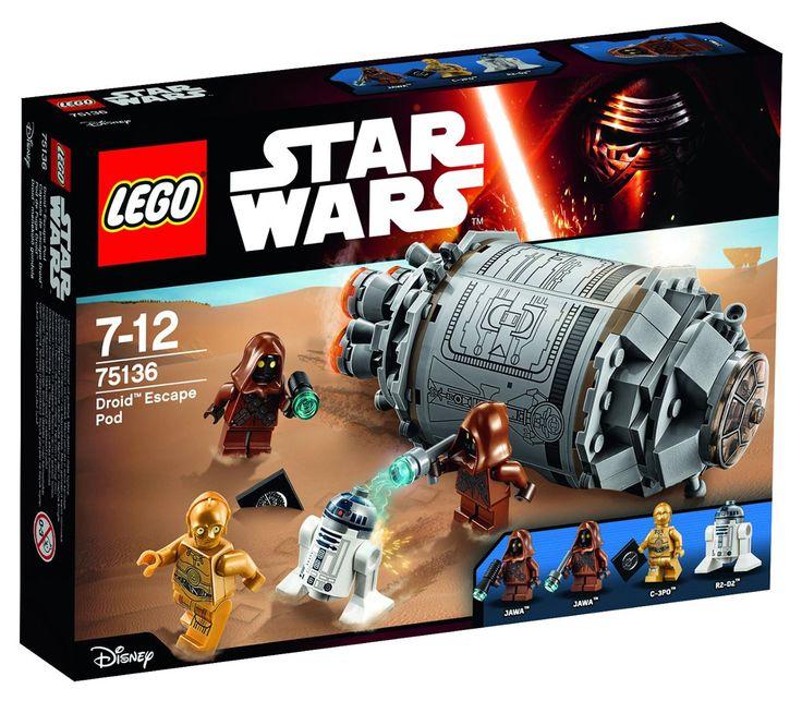 Comparez les prix du LEGO Star Wars 75136 La fuite des droïdes en pod avant de l'acheter ! Infos, description, images, vidéos et notices du LEGO 75136 La fuite des droïdes en pod sur Avenue de la brique
