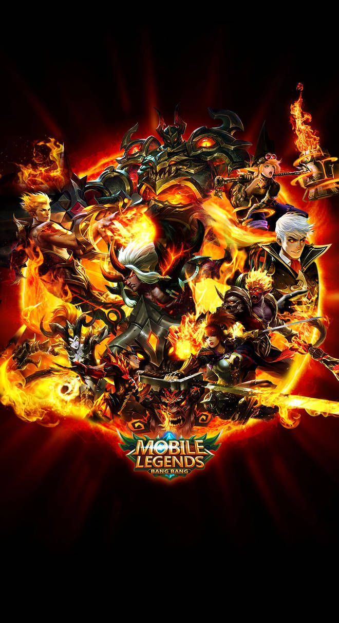 Team Fire Mobile Legends By Xuneo Mobile Legend Wallpaper Mobile Legends Alucard Mobile Legends