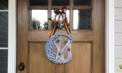 Fun and easy to make Halloween Monogram Wreath with Googly Eyes | CraftCuts.com