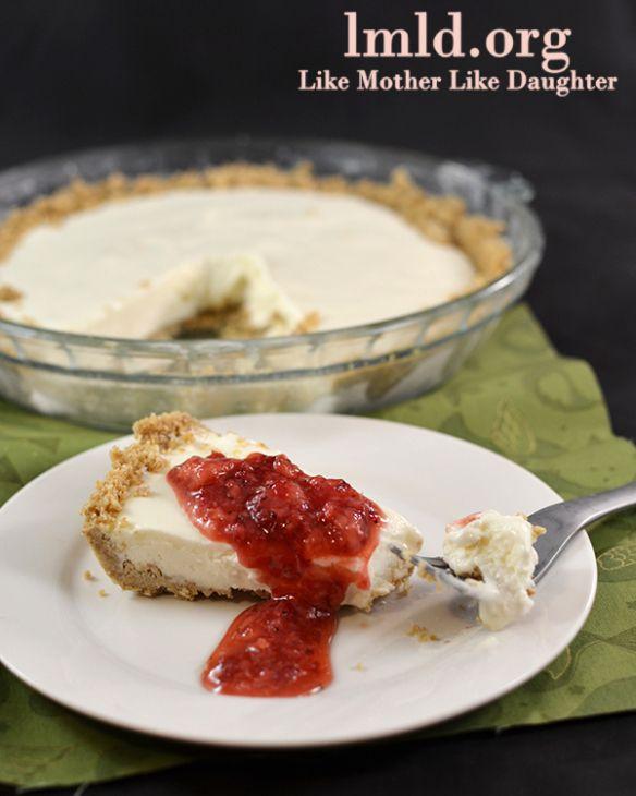 No Bake Cheesecake (with Strawberry Sauce) | Recipe