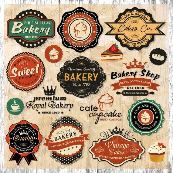 29 Bakery Vintage Frames Clipart Set Of Labels Retro Frames Etsy In 2020 Bakery Logo Vintage Labels Vintage Logo