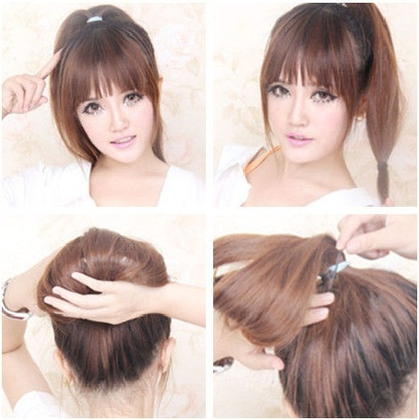 japanese style cute updos diy hairstyles trend