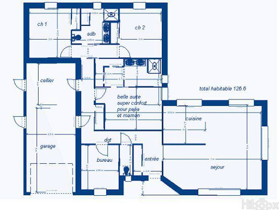 les 25 meilleures id es de la cat gorie plan maison 120m2. Black Bedroom Furniture Sets. Home Design Ideas