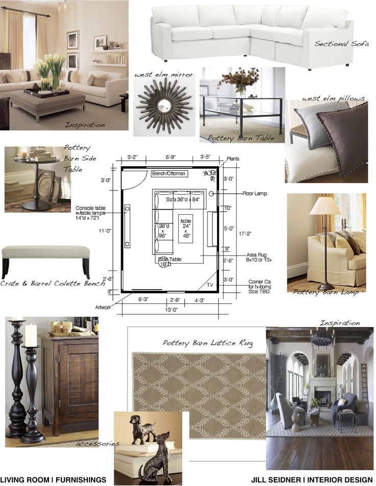 Concept board for living room jill seidner interior for Apartment design ppt