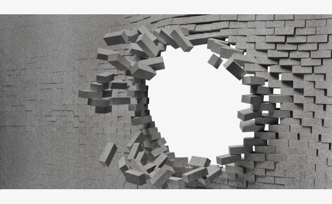 Broken Wall Effects Break The Wall Brick Hole Png Transparent