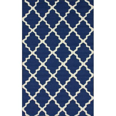Homestead Navy Blue Lannah Trellis Rug Decor | Wayfair