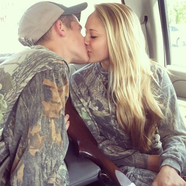 Hope my first kiss is in a back of a pick up truck. Us in camo. Hunting together.