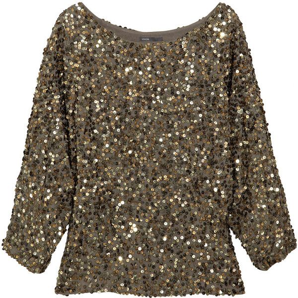 Vince Sequined georgette top: Diy Dresses, Creative Fabrics, Vince Sequins Georgett, Dreams Closet, Georgett Tops Net A Porter Com, Diy Sequins Tops, Saia Mini-Sequins, Sewing Creative, Clothing Tops