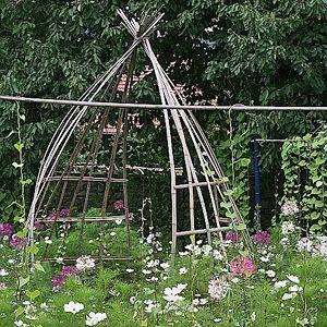 Réutiliser les tuteurs en bambous - Mobiles décoratifs.