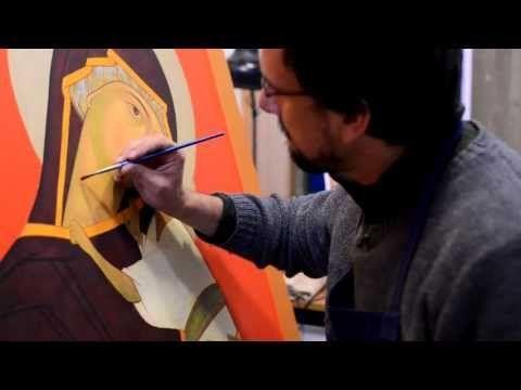 5c balayage esprits Tutoriel pour apprendre à peindre une icône. - YouTube