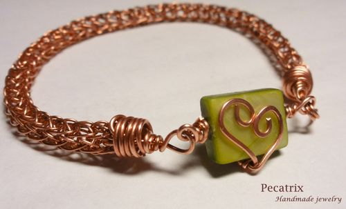 Viking Knit Heart Bracelet - JEWELRY AND TRINKETS