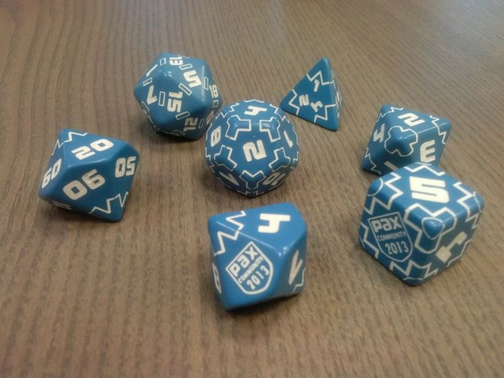 Beautiful and very consistent custom dice set - blue and white
