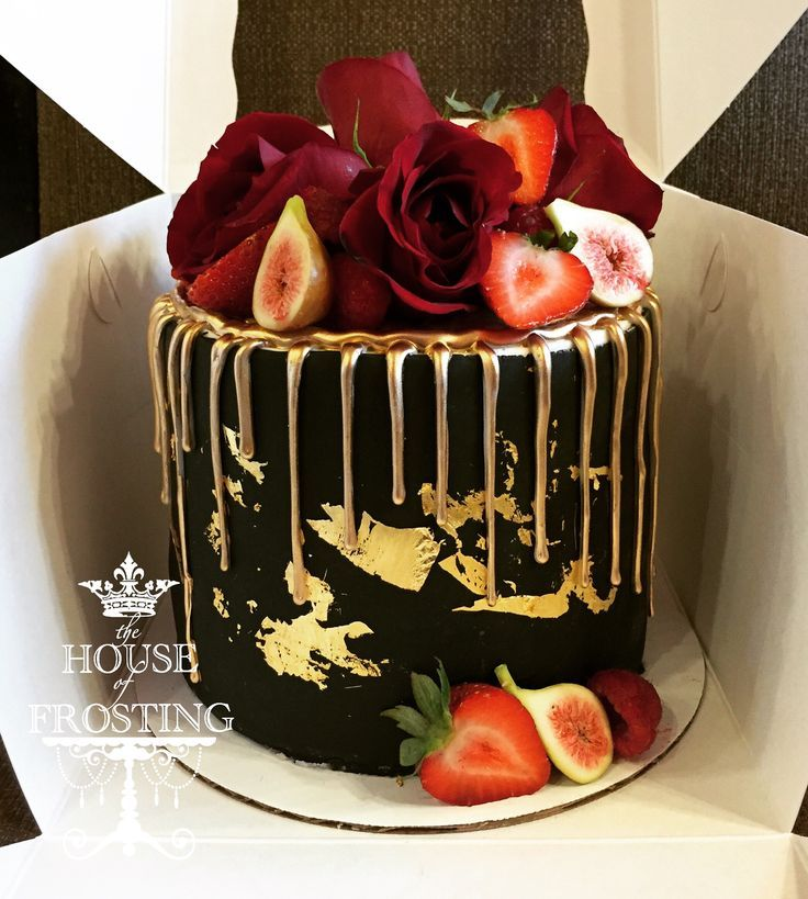 Ideen In Gold Und Goldnuancen: Black And Gold Cake In 2020
