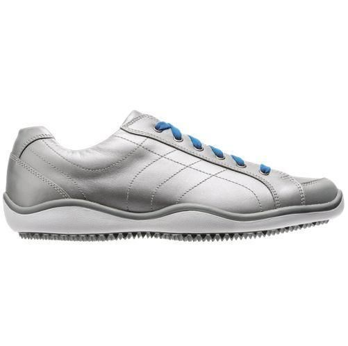 New Women's FootJoy LoPro Casual Spikeless Golf Shoes 97238 Silver-Blue 7.5  M #FootJoy