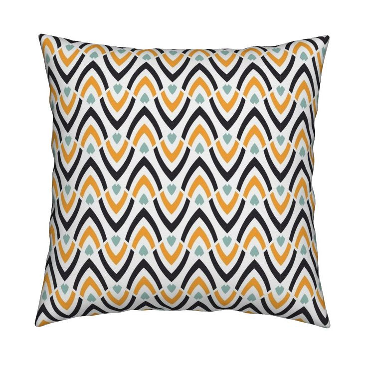 Catalan Throw Pillow featuring Wavy ethnic pattern: large-scale by milagrosvita | Roostery Home Decor