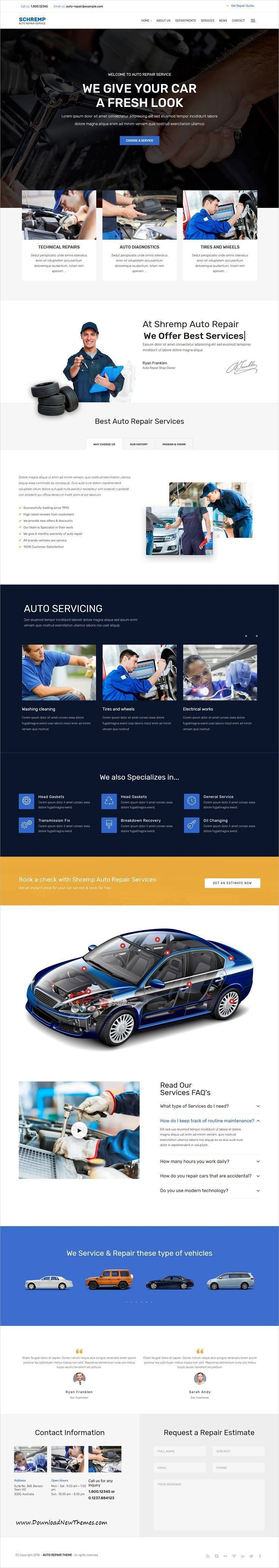 1284 best auto tips images on pinterest autos damaged cars and schremp is clean and modern design 3in1 responsive wordpress theme for garages solutioingenieria Images