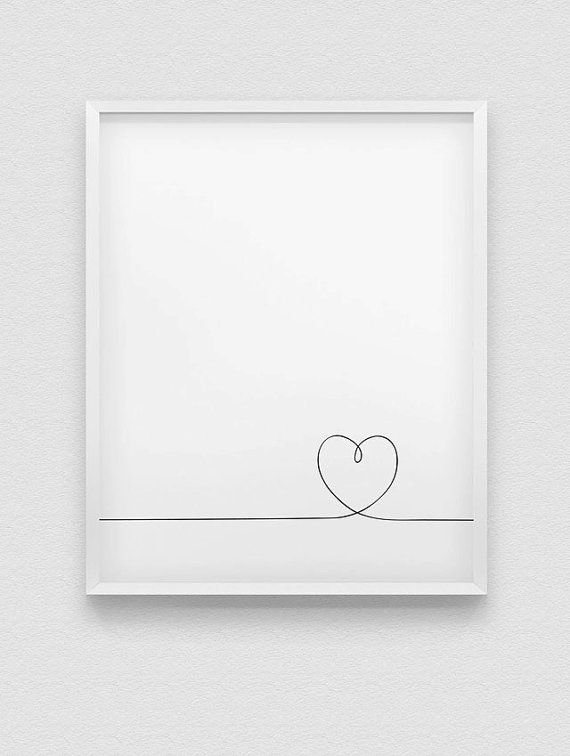 printable heart wall decor // instant download by spellandtell