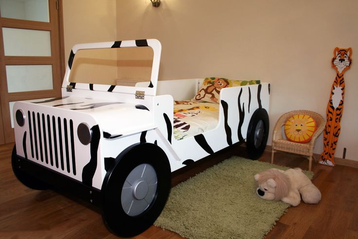 Cool children car beds for toddler boy bedroom design ideas amazing safari car bed without roof - Toddler beds for boys ...