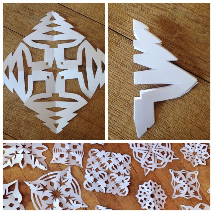 Tutorial - How to make simple christmas tree shaped snowflakes ❄️❄️❄️