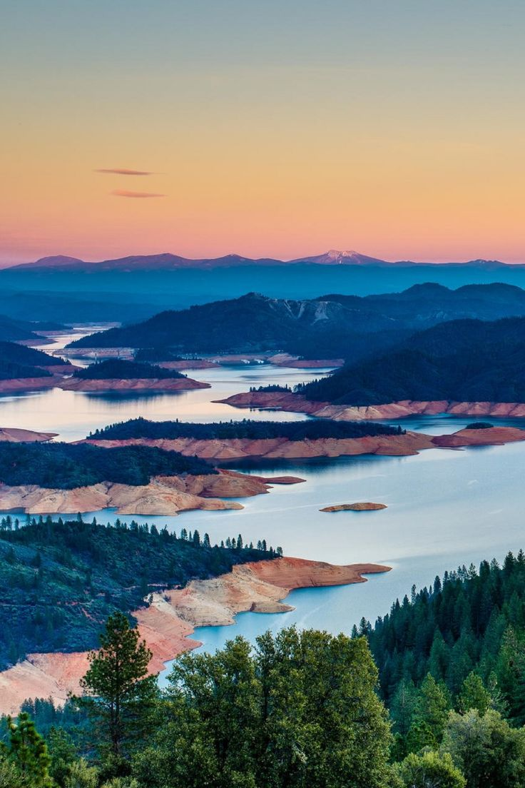 Shasta Lake, California  Haven't been in this area in years but it is beautiful.