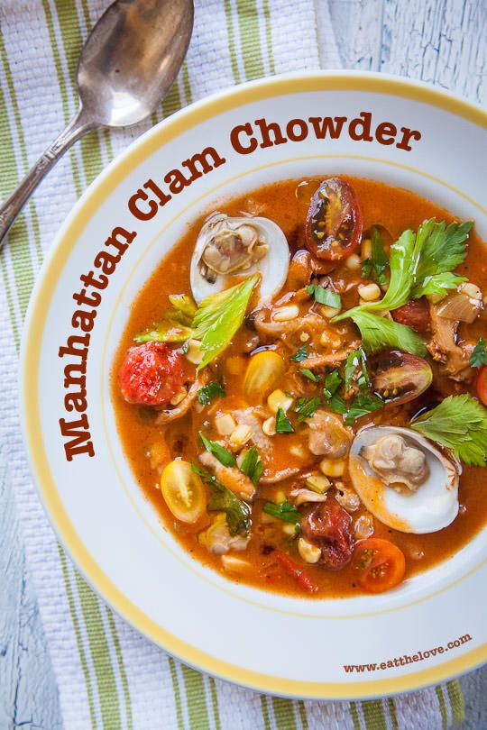 Manhattan Clam Chowder Recipe. Photo and Recipe by Irvin Lin of Eat the Love. www.eatthelove.com