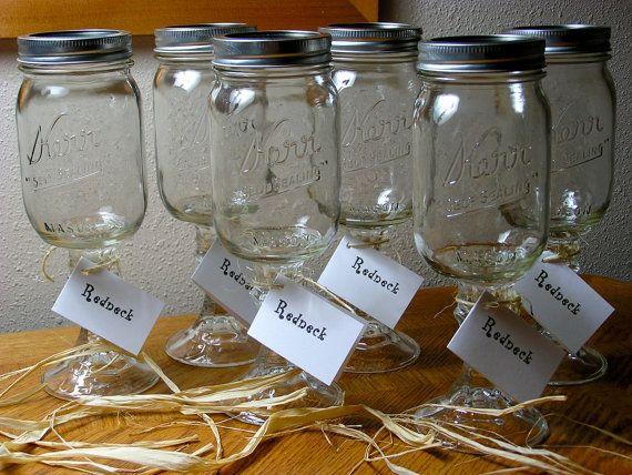 Best 25 mason jar wine glass ideas only on pinterest glass paint enamel paint and painted - Stemmed mason jars ...