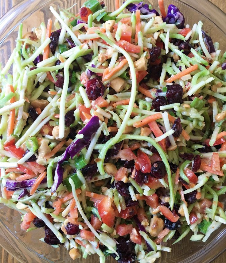 Whole 30 approved broccoli slaw salad