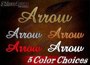 "2 Arrow 6½"" Vintage Indian Motorcycle Vinyl Decals"