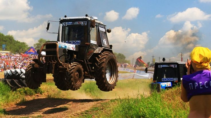 Russian Flying Tractor Racing 2016 - Offroad Race - Bison Track Show - Russia  - Russian Flying Tractor Racing 2016 2014 - Offroad Race - Bison Track Show - Russia - Russian offroad tractor racing.Flying tractors cars ukranian belarus mtz kraz lada.Youtube video shared o all facebook google vkontakte profiles even on livestream liveleak ustream. Tractor machine race with tractor pulling show and stuck race. Green field tractor pulls  on pulling race around pull trailer.Crashes racing in…